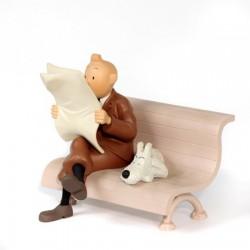Leblon Moulinsart Tintin - Tintin et Milou sur le banc