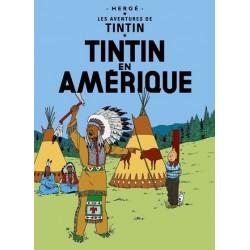 Poster Moulinsart Tintin - Couverture Album CV02 Amérique