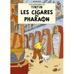 Poster Moulinsart Tintin - Couverture Album CV03 Les Cigares du Pharaon