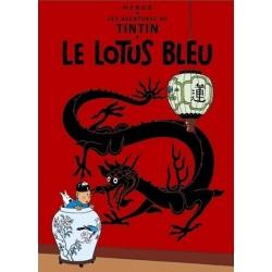 Poster Moulinsart Tintin - Couverture Album CV04 Lotus Bleu