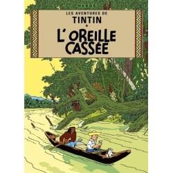 Poster Moulinsart Tintin - Couverture Album CV05 L'Oreille Cassée