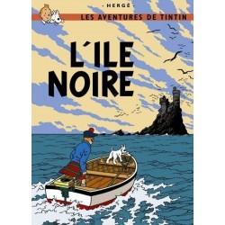 Poster Moulinsart Tintin - Couverture Album CV06 L'Ile Noire