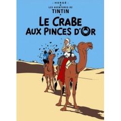 Poster Moulinsart Tintin - Couverture Album CV08 Le Crabe aux Pinces d'Or