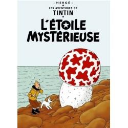 Poster Moulinsart Tintin - Couverture Album CV09 L'Etoile Mystérieuse