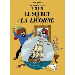 Poster Moulinsart Tintin - Couverture Album CV10 Le Secret de la Licorne