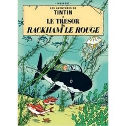 Poster Moulinsart Tintin - Couverture Album CV11 Le Trésor de Rackham le Rouge