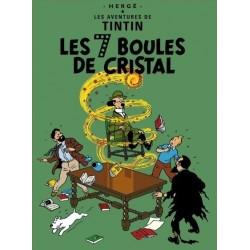 Poster Moulinsart Tintin - Couverture Album CV12 Les 7 boules de Cristal
