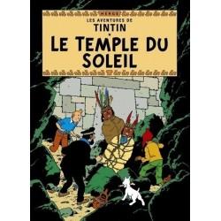 Poster Moulinsart Tintin - Couverture Album CV13 Le Temple du Soleil