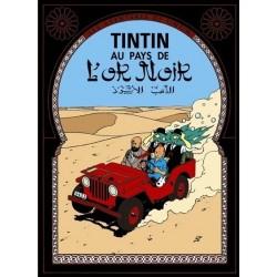 Poster Moulinsart Tintin - Couverture Album CV14 Au Pays de l'Or noir
