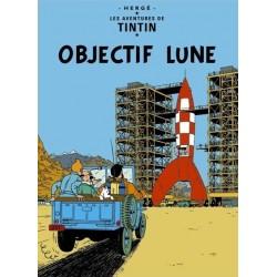 Poster Moulinsart Tintin - Couverture Album CV15 Objectif Lune