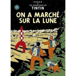 Poster Moulinsart Tintin - Couverture Album CV16 On a marché sur la Lune