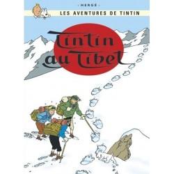 Poster Moulinsart Tintin - Couverture Album CV19 Tibet