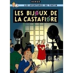 Poster Moulinsart Tintin - Couverture Album CV20 Les Bijoux de la Castafiore
