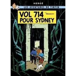 Poster Moulinsart Tintin - Couverture Album CV21 Vol 714