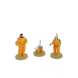 Figurine Moulinsart Tintin - Coffret Lune micro-figurines