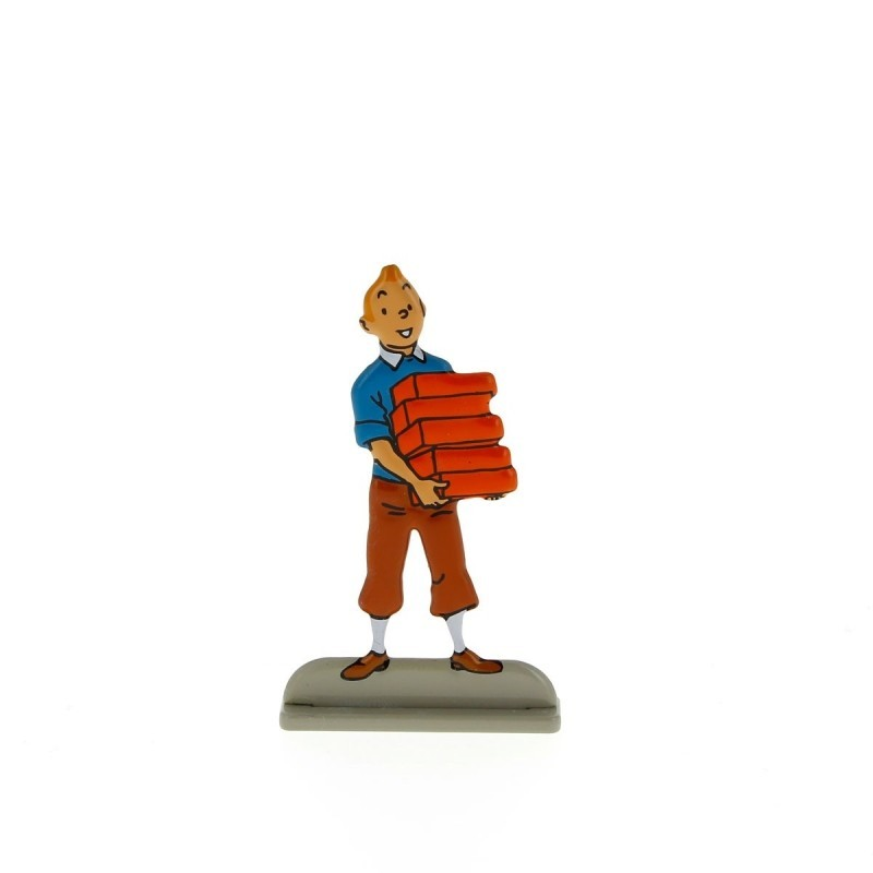Relief Moulinsart Tintin - Fig 31 Tintin portant des briques