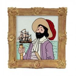Pixi Moulinsart Tintin - Objet du Mythe - Cadre du Chevalier de Hadoque