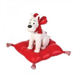 Figurine Moulinsart Tintin - Milou coussin rouge