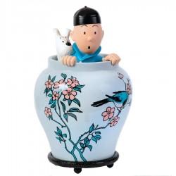 Figurine Moulinsart Tintin - Potiche Lotus Bleu 44 cm
