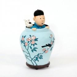 Figurine Moulinsart Tintin - Potiche Lotus Bleu 17 cm