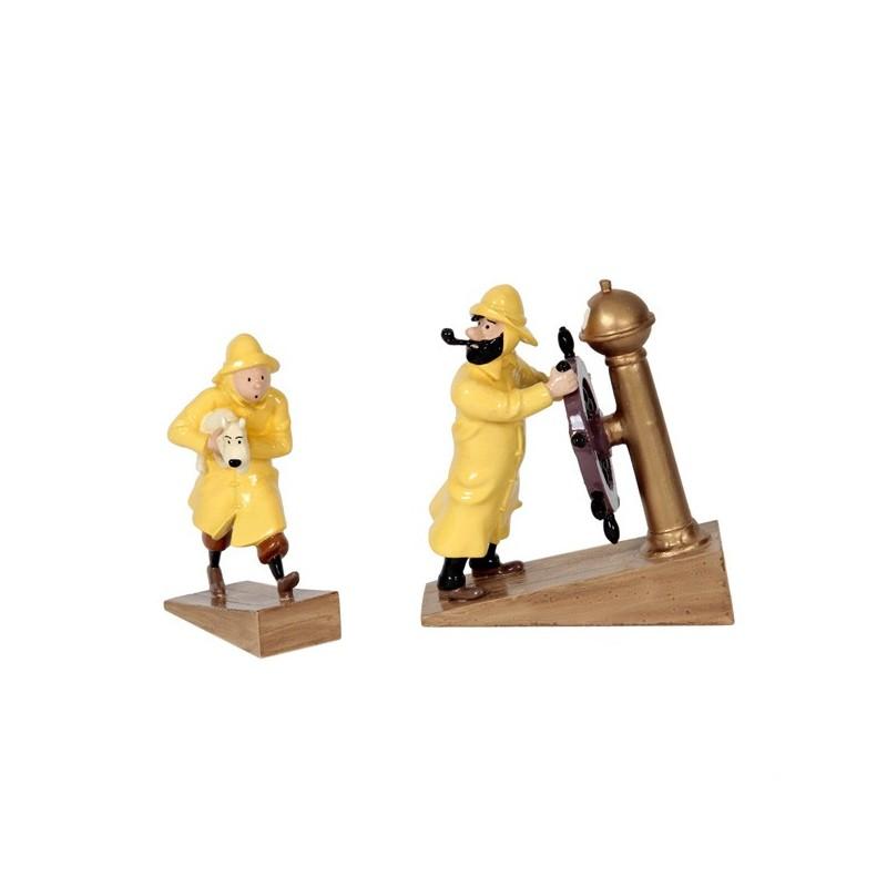Pixi Moulinsart Tintin - Collection Classique - Tintin ciré et Haddock barre