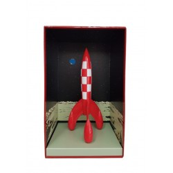 Figurine Moulinsart Tintin - Fusée lunaire 35cm (résine 2)
