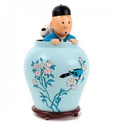 Pixi Moulinsart Tintin - Grande Potiche Lotus Bleu Regout