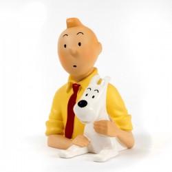 Pixi Moulinsart Tintin - Petit buste Tintin chemise jaune Regout