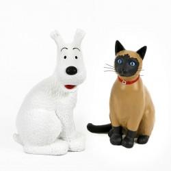Figurine Moulinsart Tintin - Milou et le chat de Moulinsart