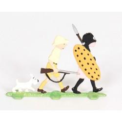 Pixi Moulinsart Tintin - Plat d'étain - Tintin au Congo