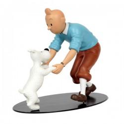 Leblon Moulinsart Tintin - Tintin danse avec Milou