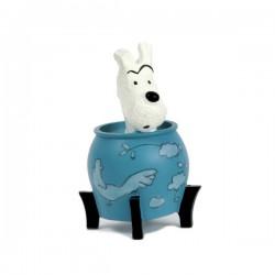 Leblon Moulinsart Tintin - Milou potiche Lotus Bleu (15cm)