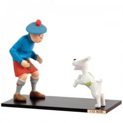 Leblon Moulinsart Tintin - Tintin et Milou Ile Noire (15cm)