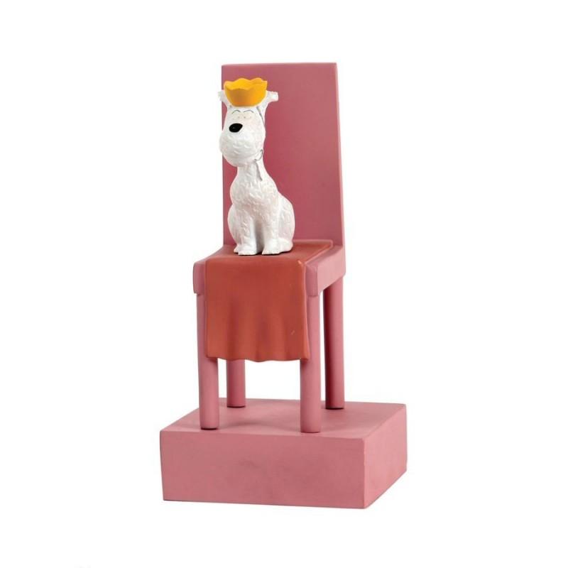 Leblon Moulinsart Tintin - Milou trône Congo (15cm)