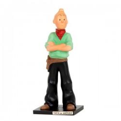 Leblon Moulinsart Tintin - Tintin cow-boy Amérique (15cm)