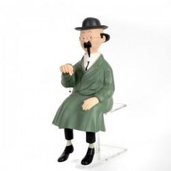 Leblon Moulinsart Tintin - Tournesol assis banc