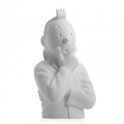 Figurine Moulinsart Tintin - Buste porcelaine Tintin pense 12cm (Mat)