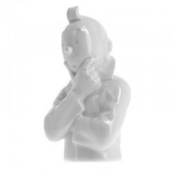 Figurine Moulinsart Tintin - Buste porcelaine Tintin pense 12cm (Brillant)
