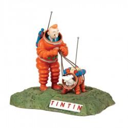 Figurine Moulinsart Tintin - Tintin et Milou cosmonautes (Japon)
