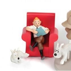 Figurine Moulinsart Tintin - Tintin et Milou fauteuil (Japon)