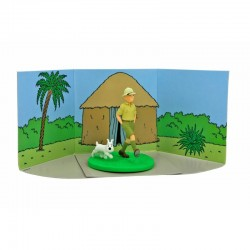 Figurine Moulinsart Tintin - Diorama Tintin explorateur