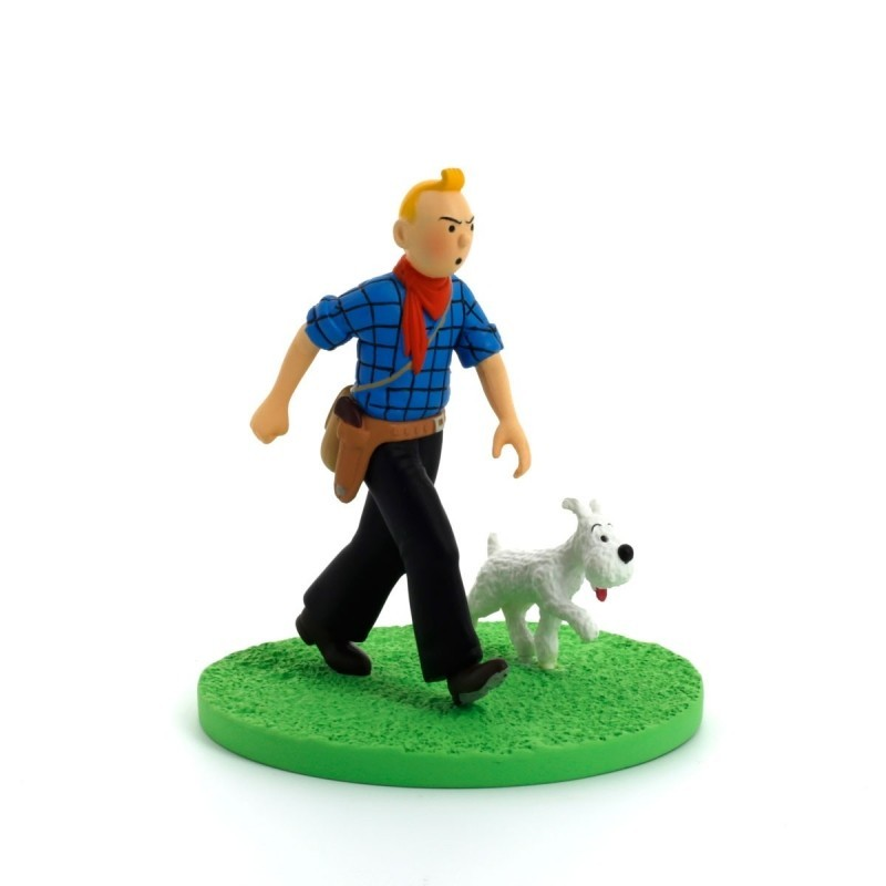 Figurine Moulinsart Tintin - Diorama Tintin cow-boy