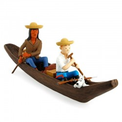 Figurine Moulinsart Tintin - Pirogue Oreille Cassée