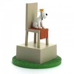 Figurine Moulinsart Tintin - Diorama Milou roi sur le trône