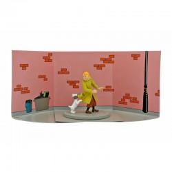 Figurine Moulinsart Tintin - Diorama Tintin Boîte de Crabe