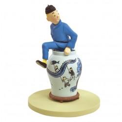 Figurine Moulinsart Tintin - Diorama Tintin sortant de la potiche