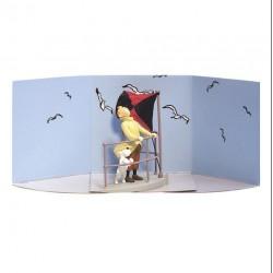 Figurine Moulinsart Tintin - Diorama Tintin sur l'aurore