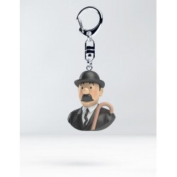 Figurine Moulinsart Tintin - Buste Porte-clés PVC Dupont