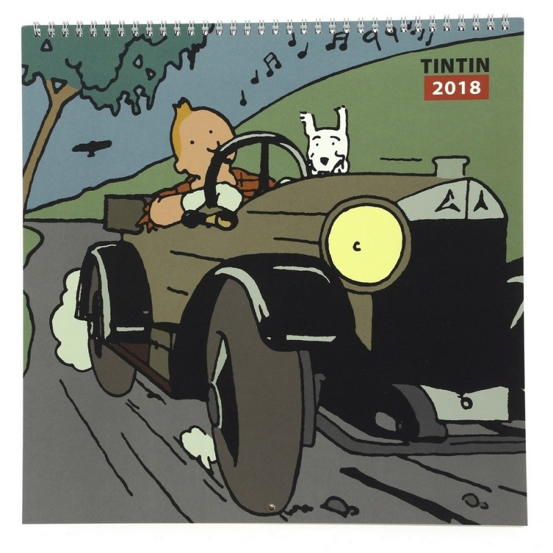 Papeterie Moulinsart Tintin - Calendrier 2018 Grand Format