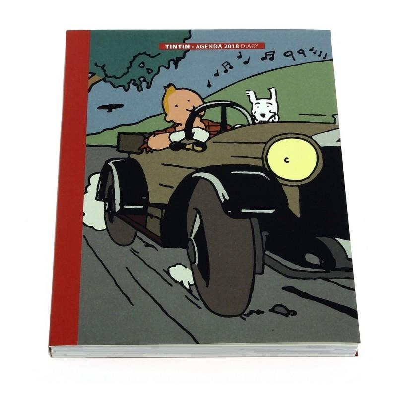 Papeterie Moulinsart Tintin - Agenda de poche 2018